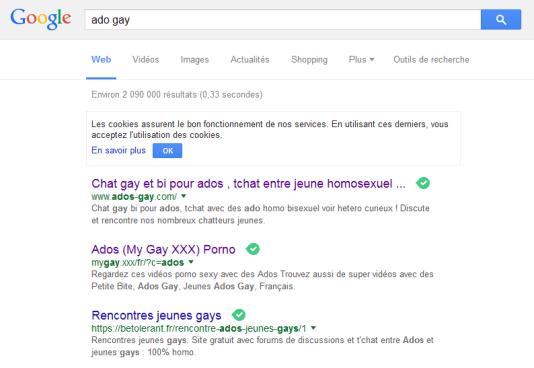 Capture d'écran - ado gay - Google