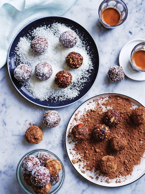 Salted Honey-almond Bliss Balls recipe