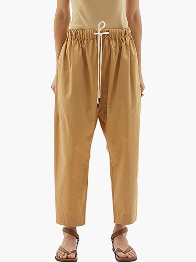 BASSIKE COTTON POPLIN LONG RISE PANT