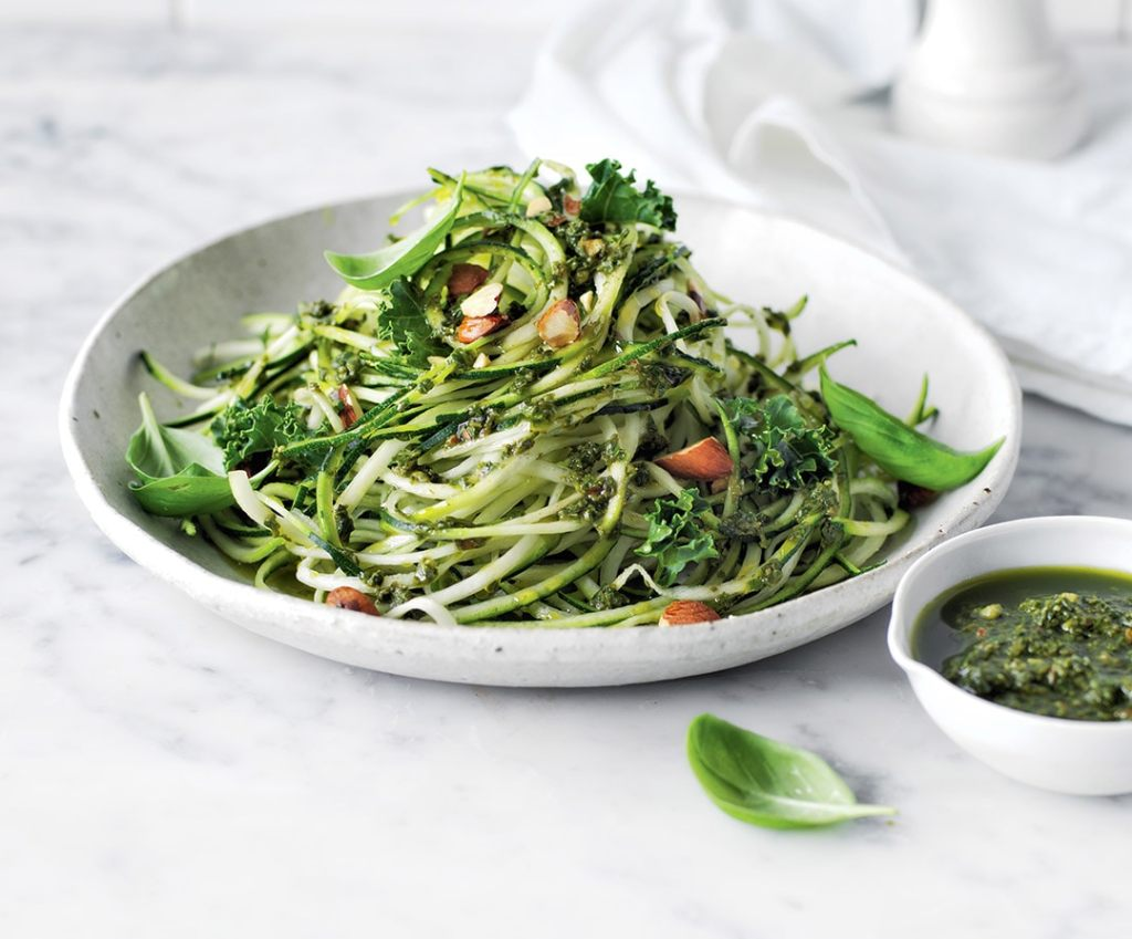 Summer food zucchini noodle