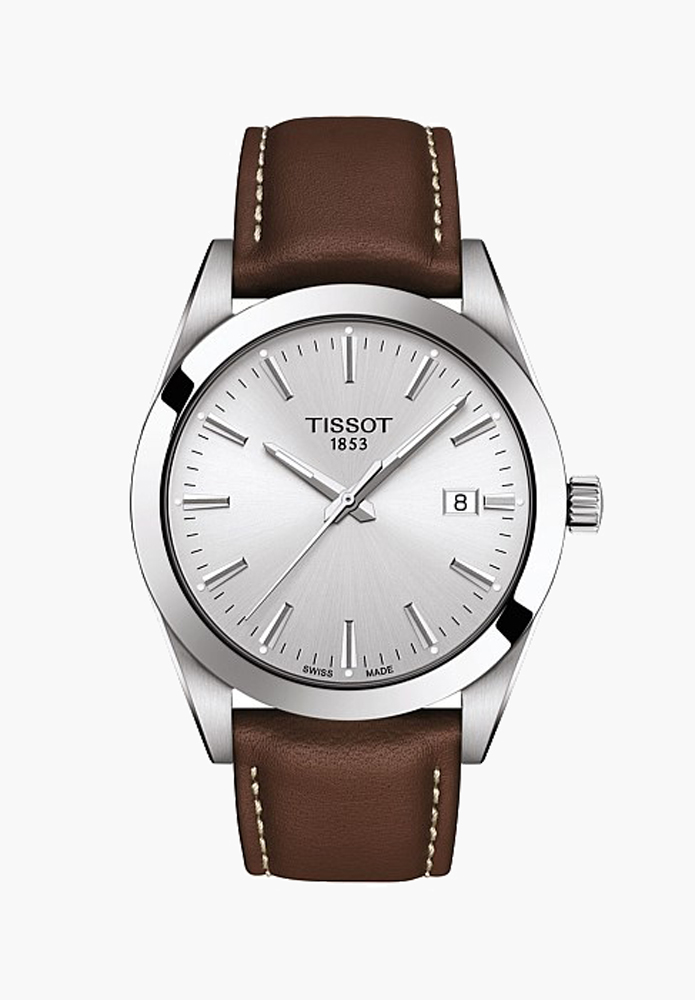 mens watch tan brown leather