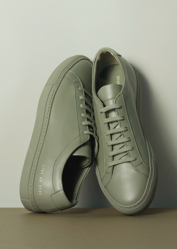 common projects womens sneakers plain green