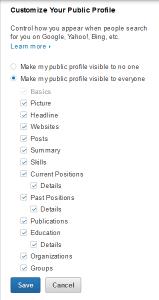 1.6.7 Customize Your Public Profile