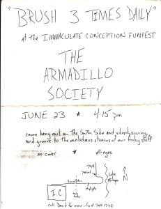 Armadillo Society Flier