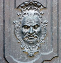 Baroque Door Knocker Santiago Monastery Spain