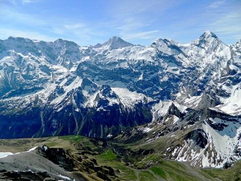 Staggering mountain view from Schilthorn Switzerland