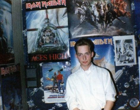 1987 - Djr - Jesus Mound my old bedroom with Iron Maiden Eddie Posters