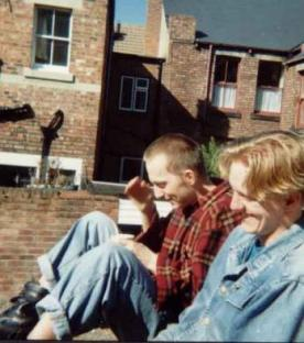 1991 - Djr, Richy - me with my oldest friend on my last Birthday living in Newcastle Upon Tyne