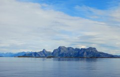 travel photo arctic circle Norway - approaching Bodo from sea - image copyright David J Rodger