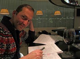 Berlin - Wyndham Grand Hotel - Dark Science Fiction Author David J Rodger working on new novel