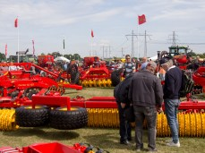 Examining brightly (and retro) coloured tractors from Väderstad