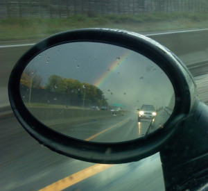 Rear-view rainbow