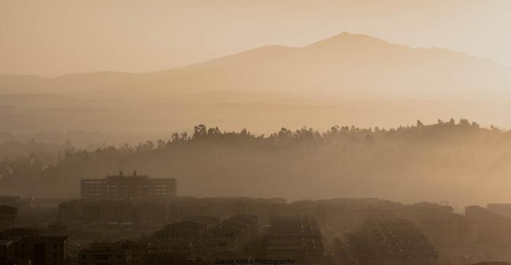 Sunrise, southern Addis Ababa