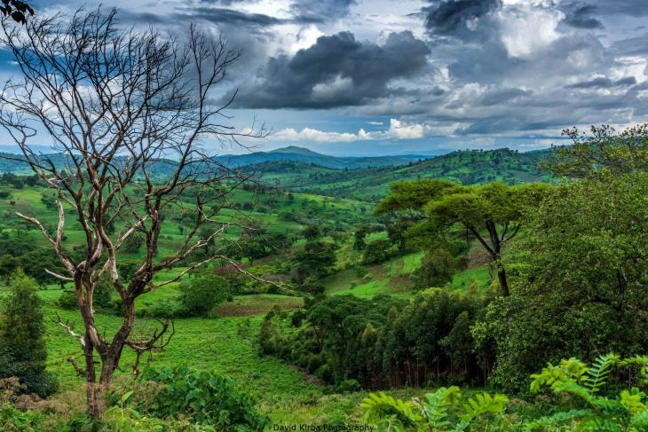 Clouds over green lands, southern Ethiopia