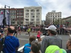 Runners made it to Kenmore Square, one mile from the finish line at the Boston Marathon