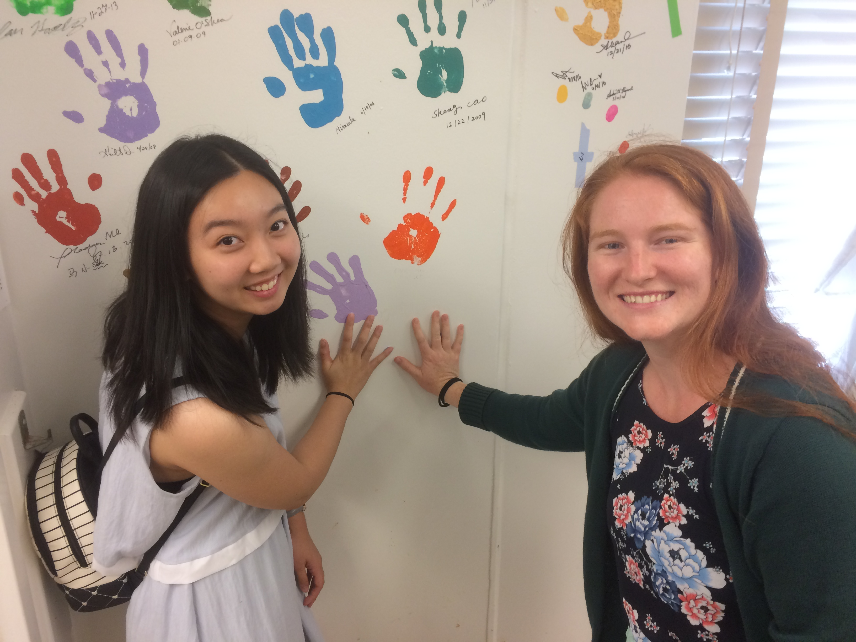 Beili and Kori say goodbye as Beili's REU research through the ACS Project SEED Program comes to a close.
