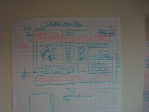 sketch of OLMA media home page redesign