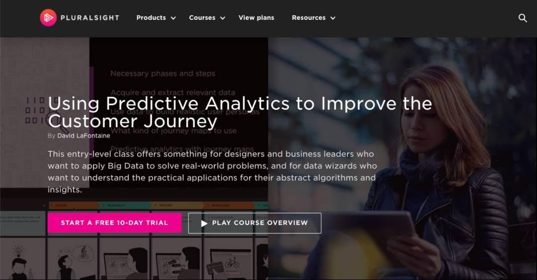david lafontaine pluralsight course using predictive analytics to improve customer journey