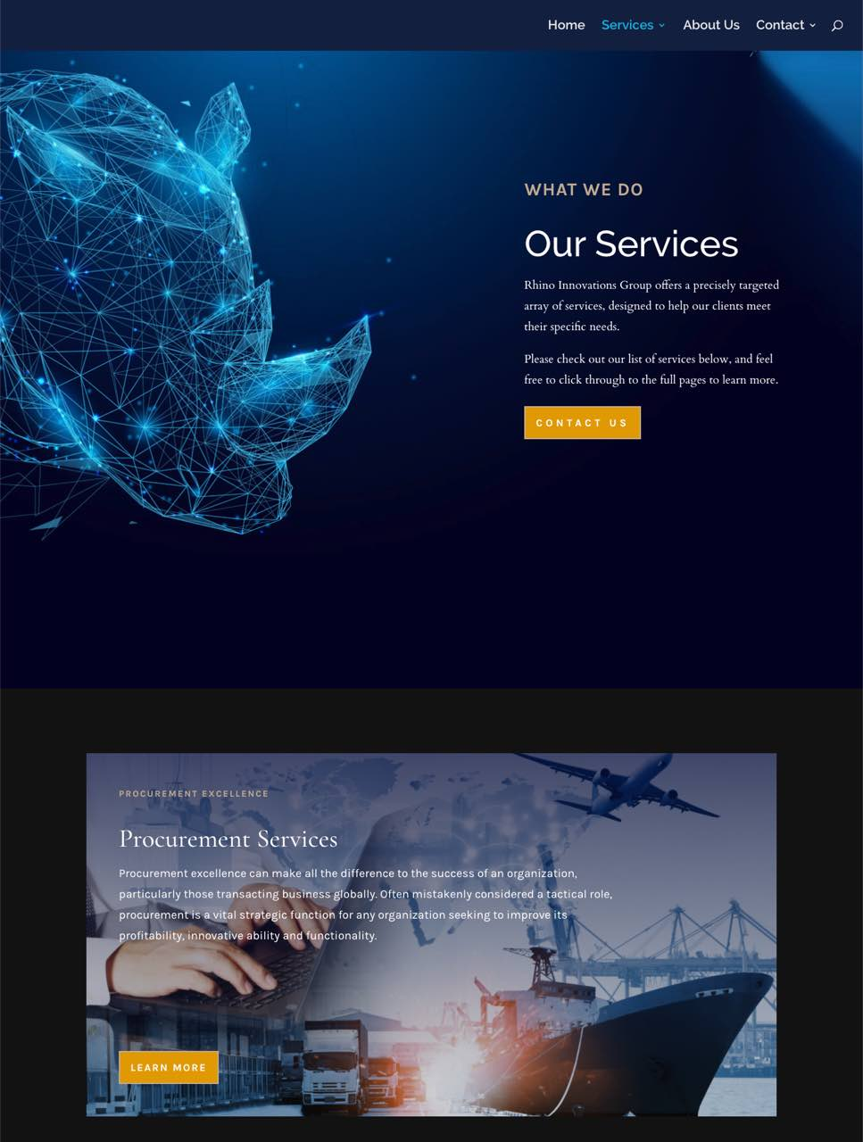 rhino innovations group services page