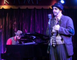 Keith Claverie (as Dusty) performs with accompaniment by Christopher Grim. (Photo by John B. Barrois)