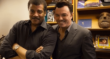 "Neil deGrasse Tyson with Seth MacFarlane on ""StarTalk"""