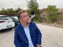 Efter en lång och tung dag på institutionen Demir Kapija hoppade den här kattungen upp på min axel och vägrade gå ner. Djur är fascinerande, det var som om den kände av min sinnesstämning
