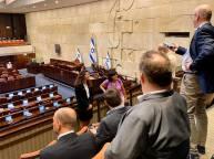 Vi hann också med en visning av Knesset och samtal om den nationella politiken i Israel samt kring hur relationerna mellan EU och Israel kan förbättras.