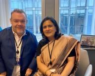 På mitt rum hade jag ett möte med Indiens ambassadör till EU om handel, relationer och mänskliga rättigheter.