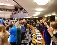 En sorglig stund i parlamentet efter att vi godkänt Storbritanniens utträdesavtal. De flesta ledamöter började att sjunga Auld Lang Syne direkt efter omröstningen.