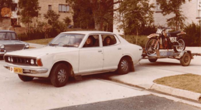Datsun with MX Bike.1978