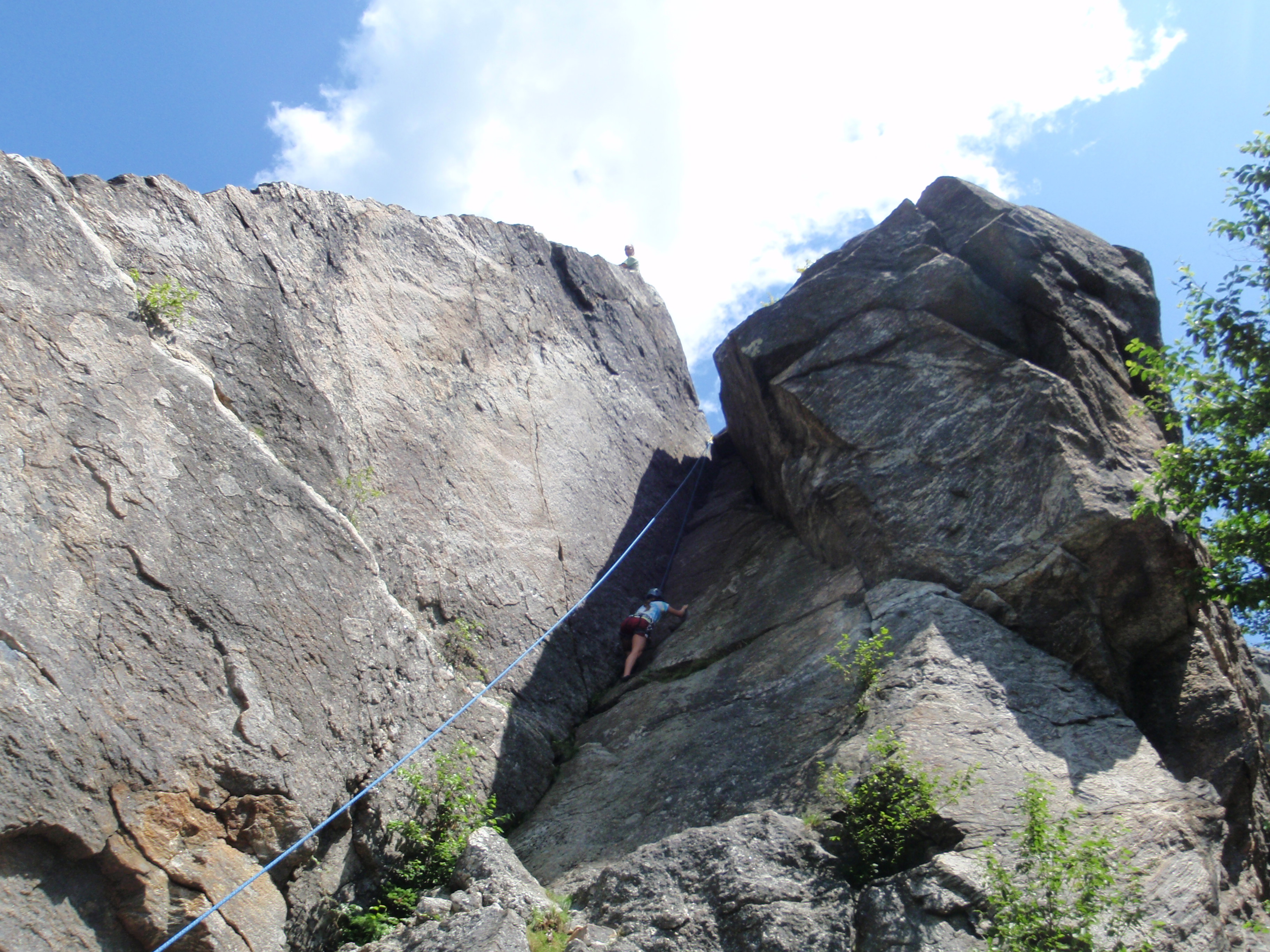 """The 2nd climb we did is the appropriately named """"Chimney"""", rated 5.6"""