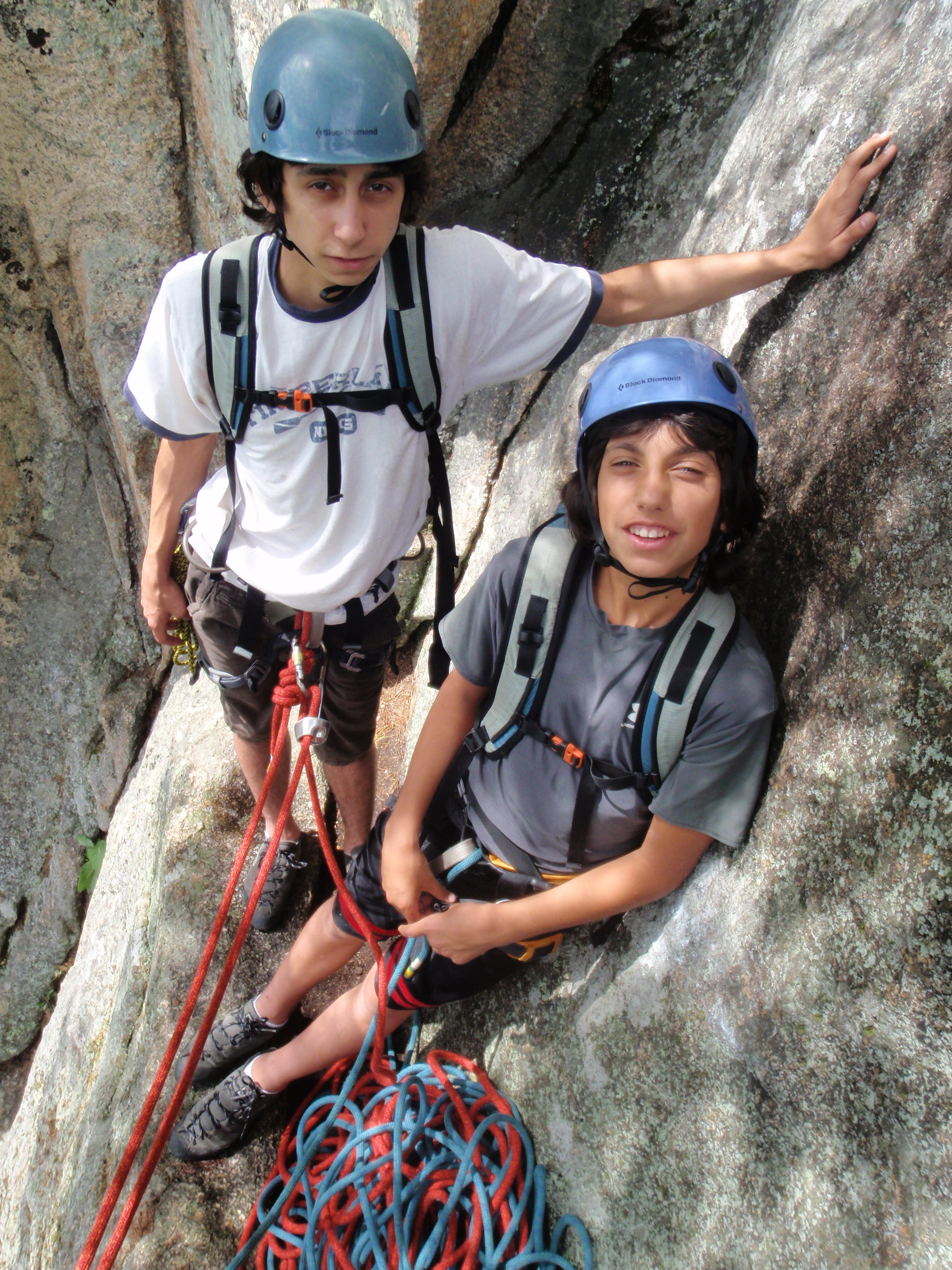 Mike and Andy at the 2nd Belay Ledge...