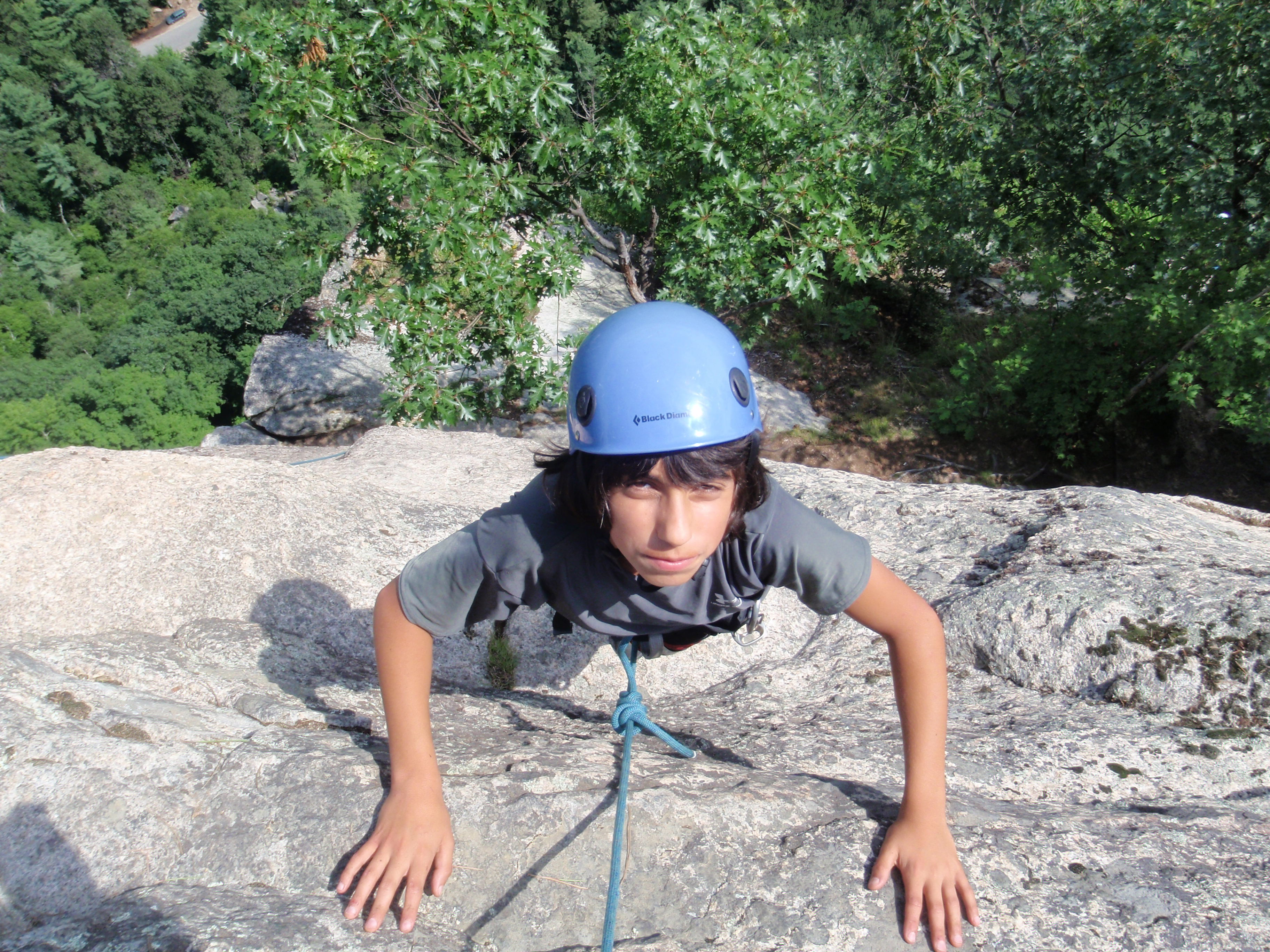 """Andy tries a difficult little """"finger crack"""" called Little Feat"""