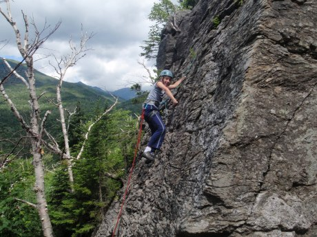 We started with a couple ropes on the West Face of Square Ledge...