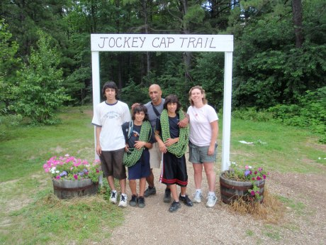 We started our two day climbing program at Jockey Cap, in nearby Fryeburg, ME...