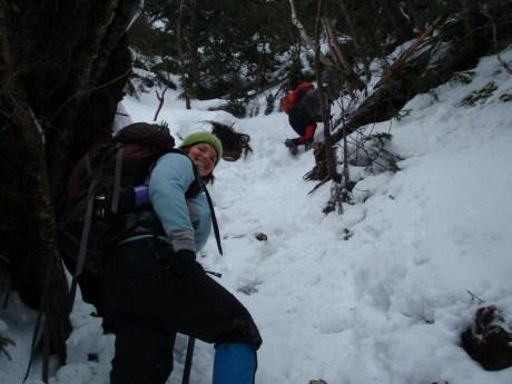 Kel tackling some steeper terrian...