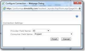 Create the web part connection