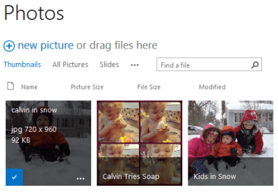 Photo library in FireFox