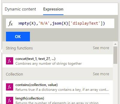 Micosoft flow likert expression to get vlaue
