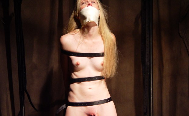 Thin Blonde Orgasm Predicament