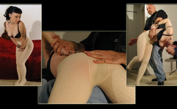 Spanked in Wool Tights