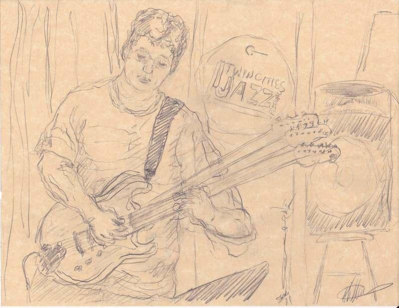 David Martin Jazz central Drawing by Keith