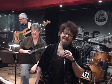 Jim Chenoweth, David, and Vicky at Jazz Central Studios in Minneapolis