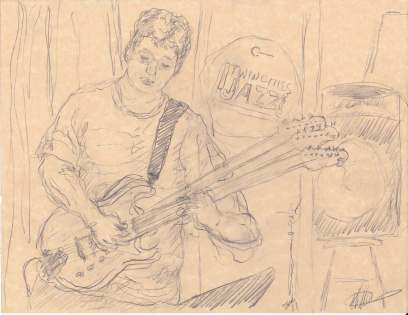 David Martin Jazz central Drawing by Keith