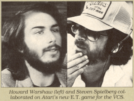 Howard Scott Warshaw y Steven Spielberg