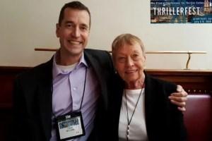 Author David McCaleb with agent Anne Hawkins