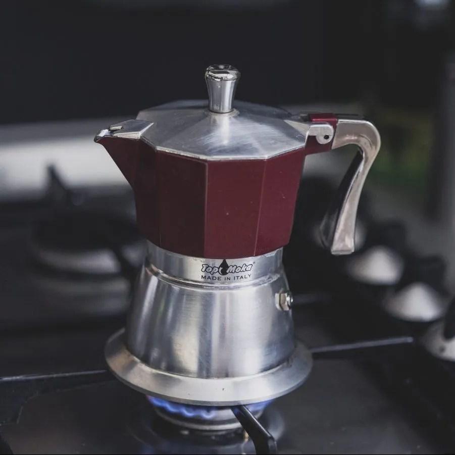 moka pot coffee brewer