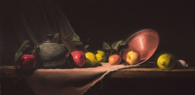 """teapot with apples and lemons 