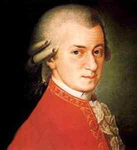 Mozart c. 1780, portrait by Johann Nepomuk della Croce