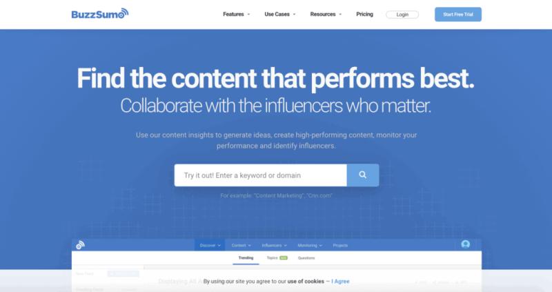 Best social tools: BuzzSumo